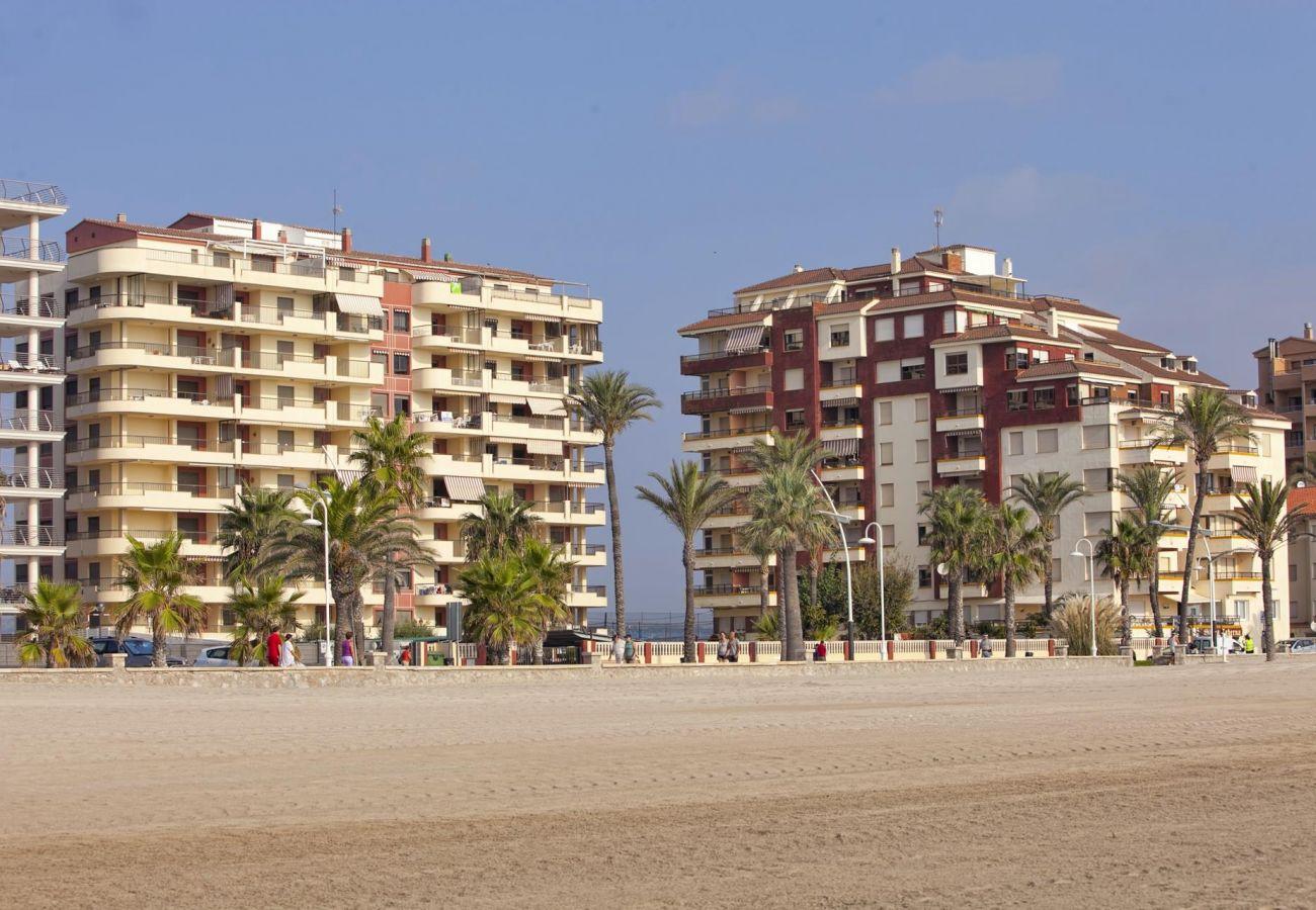 edificio Albatros, urbanización Albatros, primera línea, playa, familia, situación