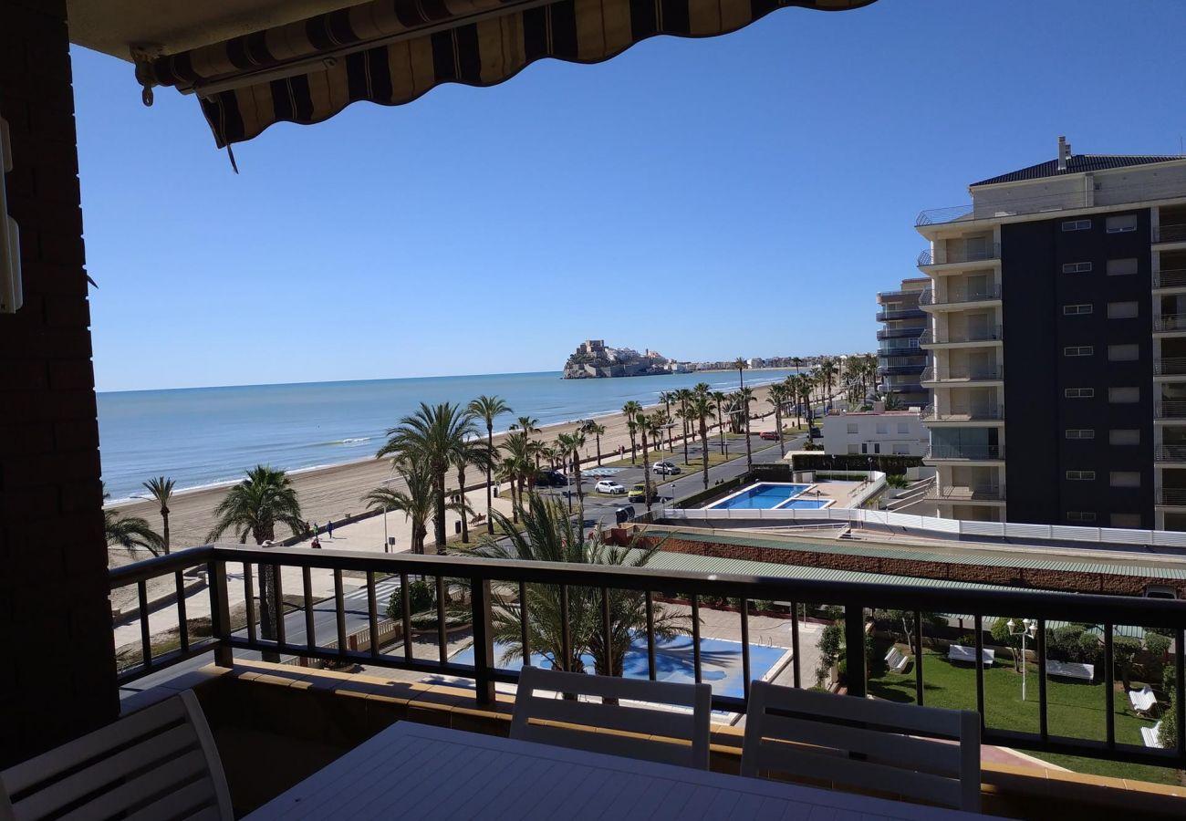 vistas mar, castillo, playa, familia, niños